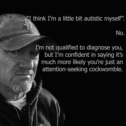I think I could be a little bit autistic